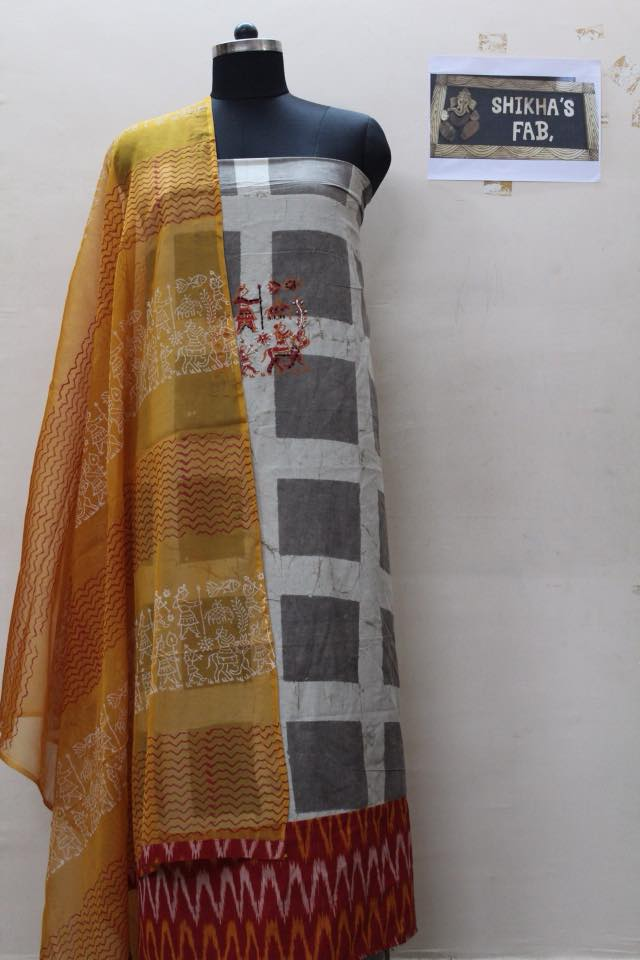 BlockPrinted Dress Material